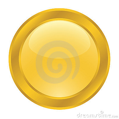 Gold button for web
