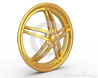 Gold car disc