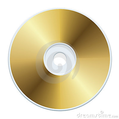 Free Gold CD Royalty Free Stock Image - 2844216