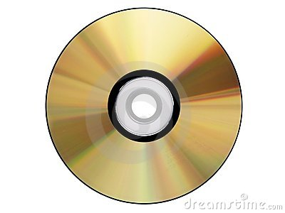 Gold Cdrom isolated