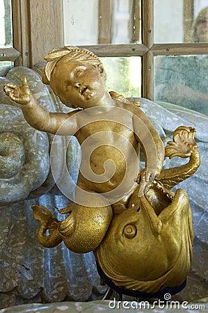 Gold cherub