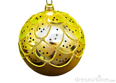 Gold Christmas Ball/Decoration