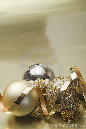 Gold Christmas Bauble Decorations
