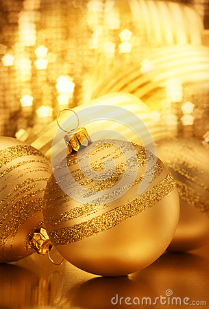 Gold Christmas Bauble