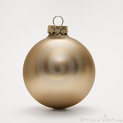 Free Gold Christmas Ornament. Royalty Free Stock Photo - 2047295