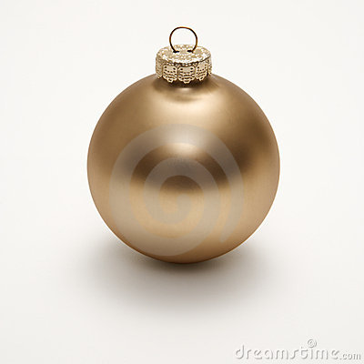 Free Gold Christmas Ornament. Royalty Free Stock Photography - 2052187