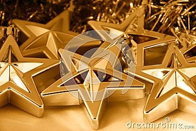 Gold Christmas stars