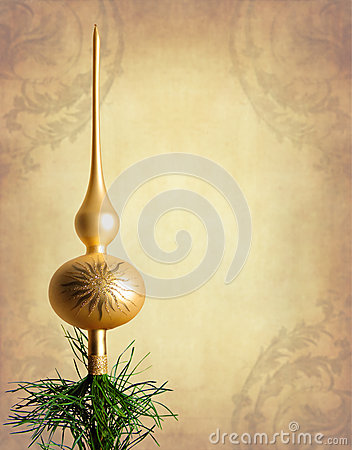 Gold christmas tree top