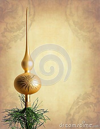 Gold christmas tree top
