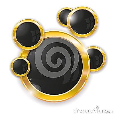 Gold circle frames