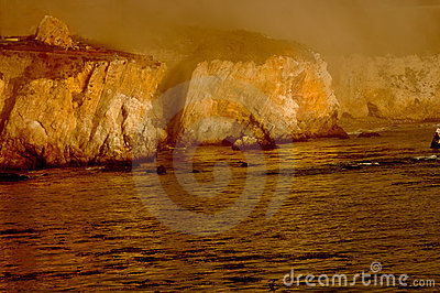 Gold Cliffs in the Fog
