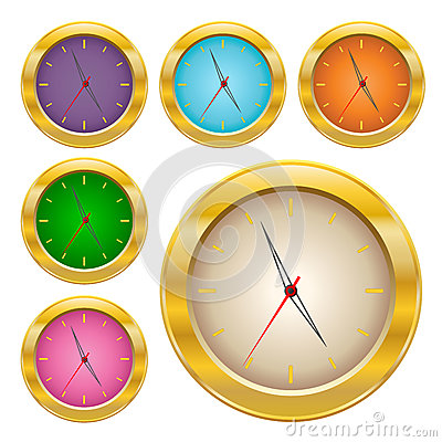 Gold clock set