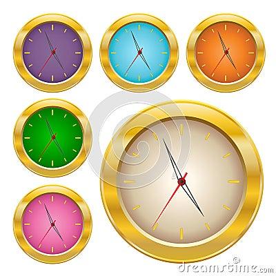 Gold clock set