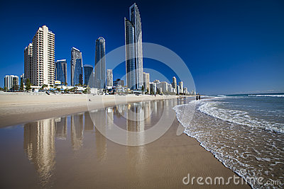 Gold Coast Beach at Surfers Paradise