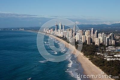 Gold Coast Queensland Australia Coast Aerial View