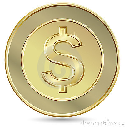 Free Gold Coin Stock Photography - 12836602