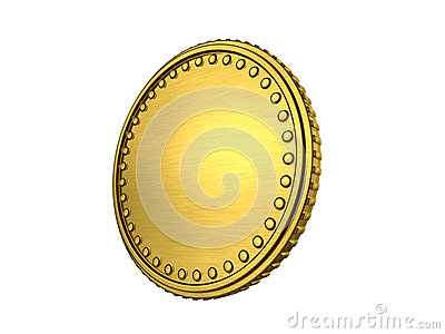 Gold coin with border