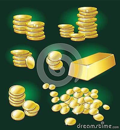 Gold coin and bullion