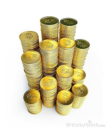 Gold Coins Royalty Free Stock Photography - Image: 14252517