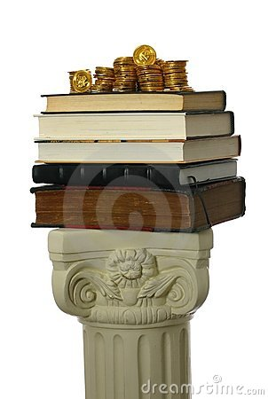 Free Gold Coins On Stack Of Books Royalty Free Stock Photos - 4066668