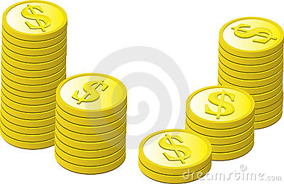 Gold Coins Stacked