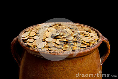 gold coins black background - photo #46
