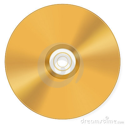 Free Gold Compact Disk Royalty Free Stock Image - 11617366