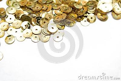 Gold confettis