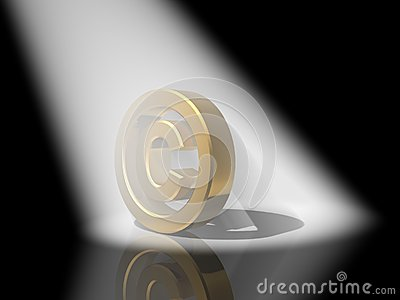 Gold copyright symbol