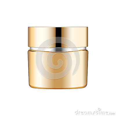 Free Gold Cream Cosmetics Bottle On White Background Royalty Free Stock Photo - 88115685