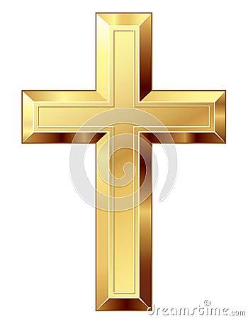Free Gold Cross Stock Image - 45933191