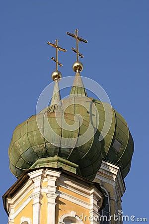 Gold crosses of orthodox church