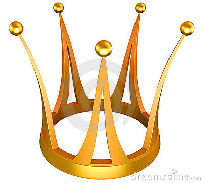 Gold crown the princess