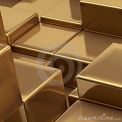 Gold cubes background