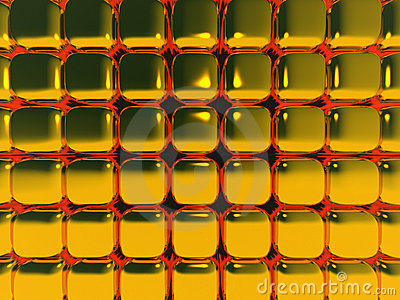 Gold Cubes in Motion Blur