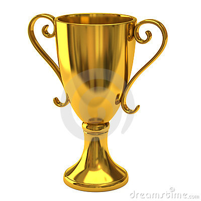 Free Gold Cup Of The Winner Royalty Free Stock Image - 18355686