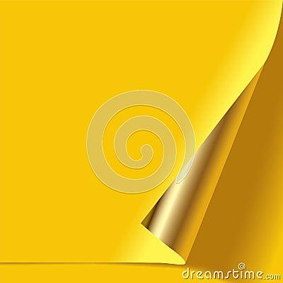 Gold curled corner