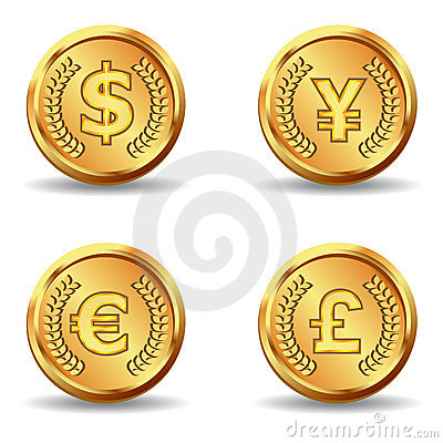 Gold currency icon