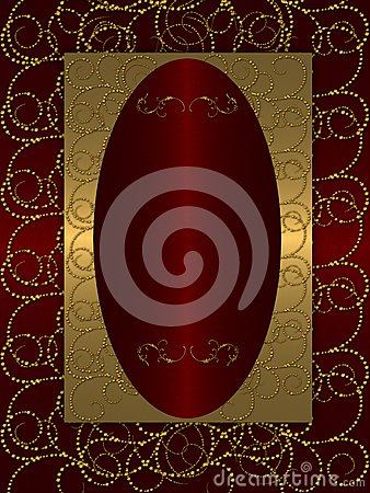 Gold with dark red vintage background
