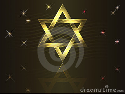 Gold David star.