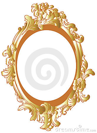 Gold decor frame