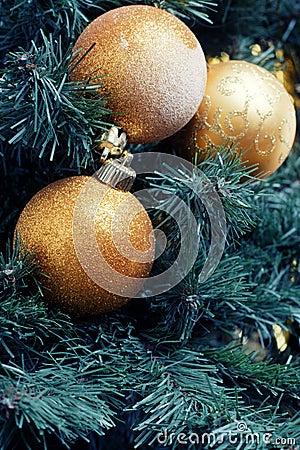 Gold decoration ball