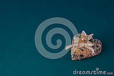 Gold decoration heart