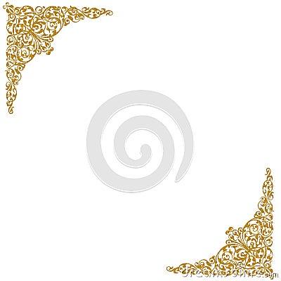Gold decorative corners