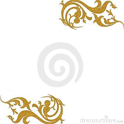 Gold decorative corners background