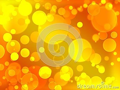 Gold defocused illuminated blurred bokeh