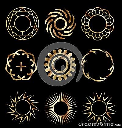Gold design elements 1