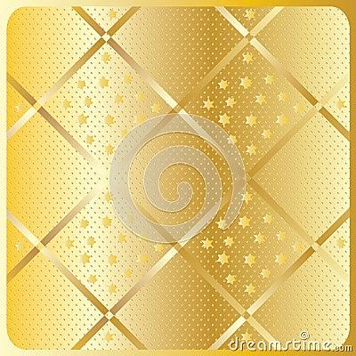 Gold diagonal geometric pattern