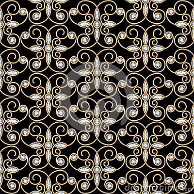 Royalty free stock photography gold seamless pattern