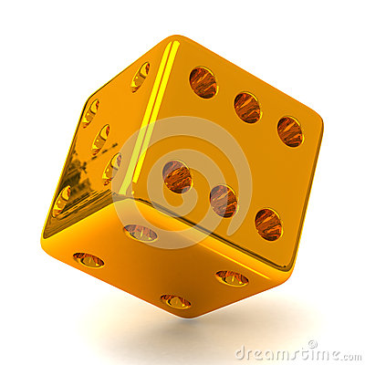 Free Gold Dice 3d Stock Image - 26561091